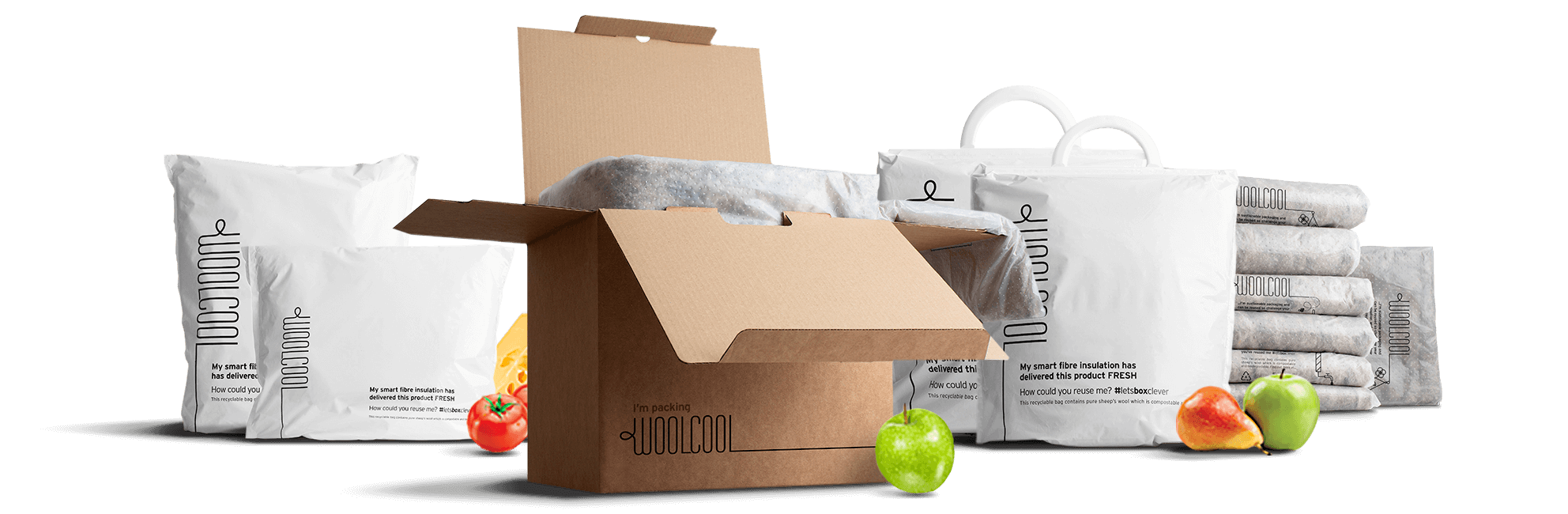 Woolcool Insulated packaging Range