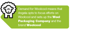 Angela Morris focuses on Woolcool