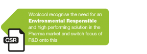 Woolcool identify an environmental responsible solution required for Pharma