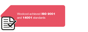 Woolcool achieved ISO 9001 and 14001