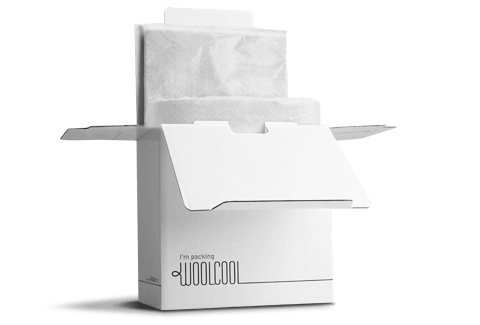 Woolcool Pharmaceutical Box Sets are a sustainable packaging alternative