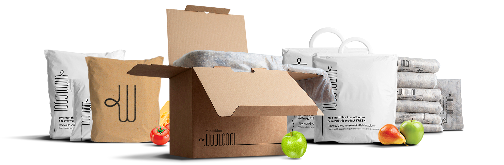 Woolcool Insulated Packaging Food Range
